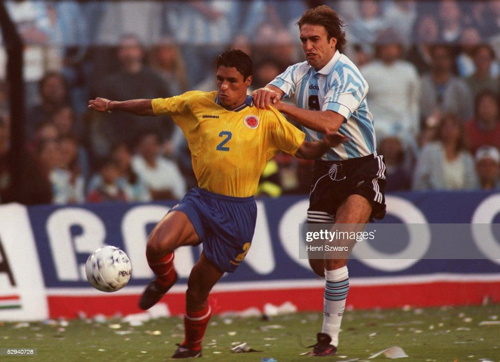 1 in Buenos Aires am 161197 Ivan CORDOBA/COL Gabriel BATISTUTA/ARG
