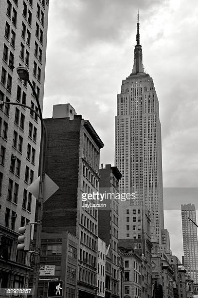 NYC in B&W - Empire State Building neighborhood cityscape