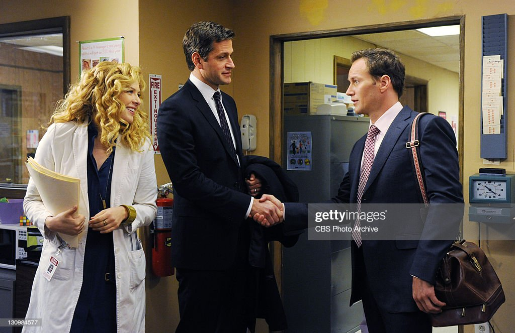 'In Case of Exposure' -- Michael (Patrick Wilson) is introduced to Kate's (Rachelle Lefevre) husband, Harrison (Peter Hermann), on A GIFTED MAN, Friday, Nov 11, 2011 (8:00-9:00 PM, ET/PT) on the CBS Television Network.