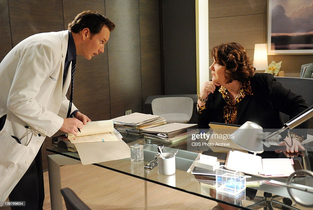 'In Case of Heart Failure' -- Episodic and behind the scenes coverage of A Gifted Man in Long Island City on Thursday, Feb. 2, 2012 on the CBS Television Network. Pictured is Patrick Wilson and Margo Martindale.