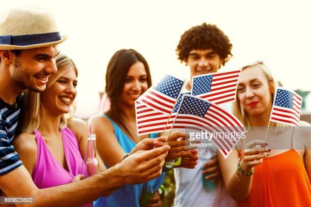 In de viering van Onafhankelijkheidsdag