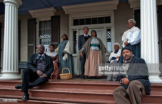In celebration of the 194th birthday of Frederick Douglass the park service holds events at his house on February 2012 in Washington DC Pictured...