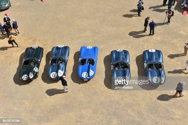 In celebration of the 60th anniversary of Jaguar's 12346 finish at the 1957 Le Mans 24 hour race the 5 Jaguar DTypes that accomplished the result are...