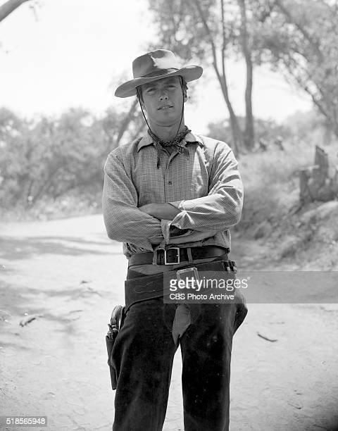 In character photographs of Clint Eastwood as Rowdy Yates for the CBS Television western Rawhide Image dated June 22 1962 Hollywood CA