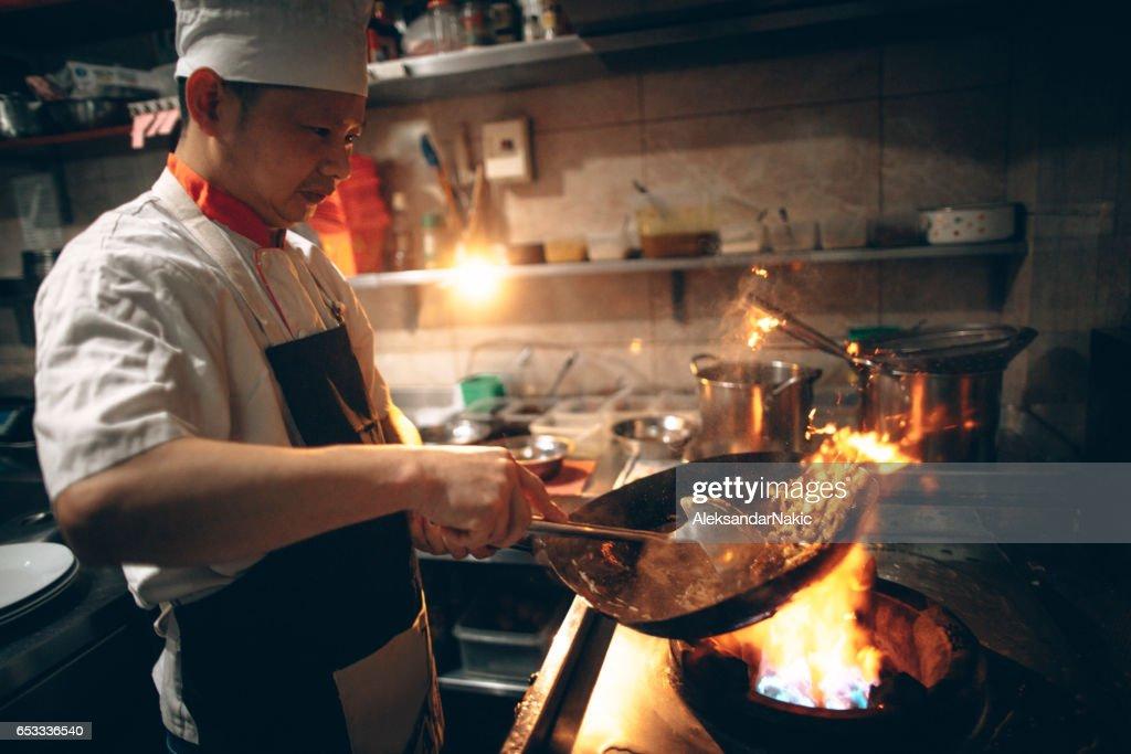 In Chinese restaurant : Stock Photo