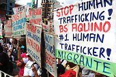 In commemoration of International Migrant's Day members of Migrante Chapters of the Philippines from 16 countries gather in Mendiola Manila City the...