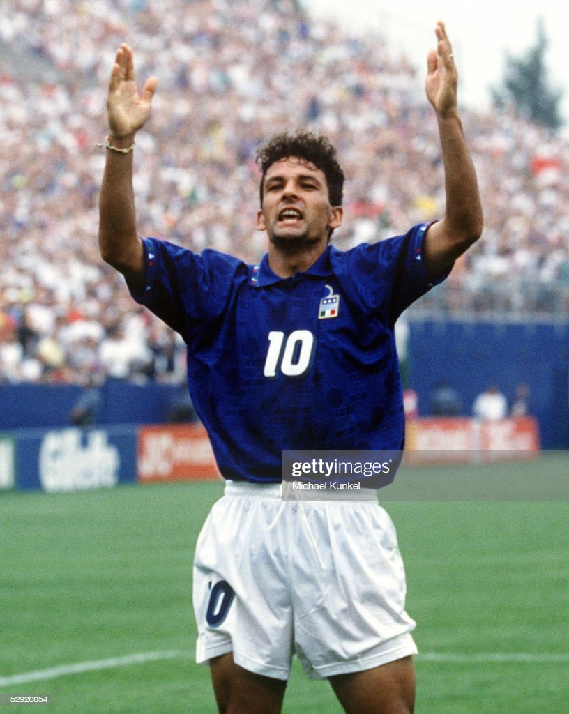 WM 1994 in den USA, Viertelfinale, Boston; ITALIEN - SPANIEN (ITA - ESP) 2:1; 2:1 Roberto BAGGIO/ITA