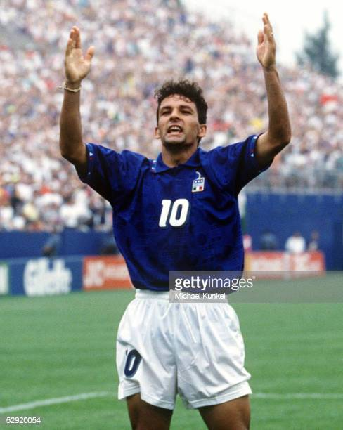 WM 1994 in den USA Viertelfinale Boston ITALIEN SPANIEN 21 21 Roberto BAGGIO/ITA