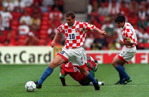 FUSSBALL: NATIONALMANNSCHAFT EM 1996 in ENGLAND/ CRO : News Photo