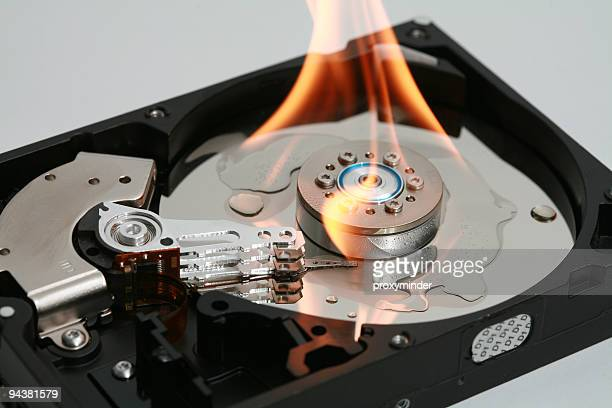HDD in fire