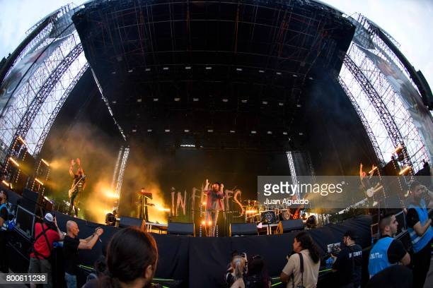 In Flames perform on stage at the Download Festival on June 24 2017 in Madrid Spain