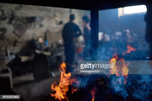In forge : Stock Photo