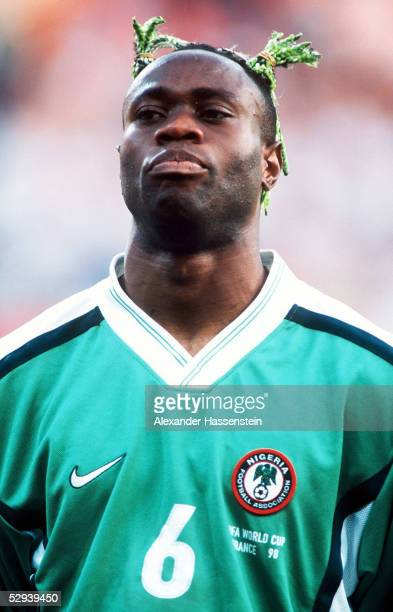 WM 1998 in Frankreich Vorrunde Toulouse NIGERIA PARAGUAY 13 Taribo WEST/NGA