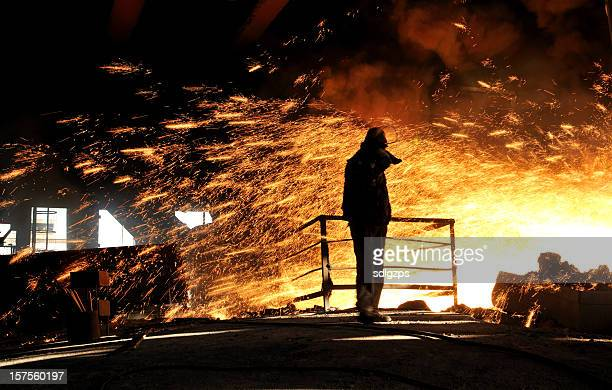 In front of the Blast Furnace