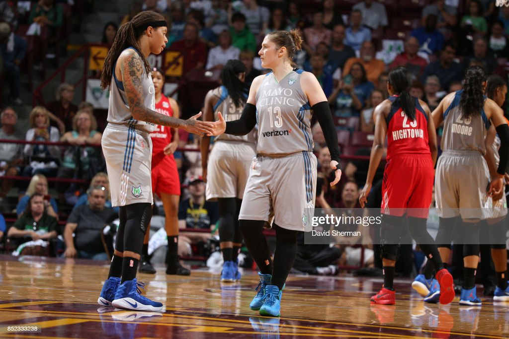 in Game One of the Semifinals during the 2017 WNBA Playoffs on September 12, 2017 at Williams Arena, University of Minnesota, in Minneapolis, Minnesota.