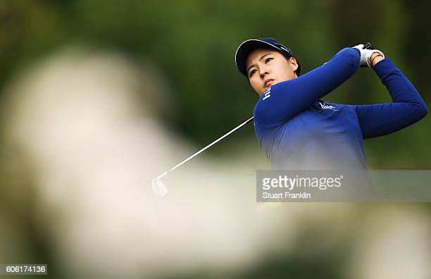 In Gee Chun of Korea plays a shot during the second round of The Evian Championship on September 16 2016 in EvianlesBains France