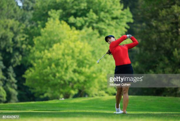 In Gee Chun of South Korea hits a shot during the second round of the Marathon Classic Presented By Owens Corning And OI held at Highland Meadows...