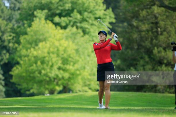In Gee Chun of South Korea hits her second shot on the 16th hole during the second round of the Marathon Classic Presented By Owens Corning And OI...