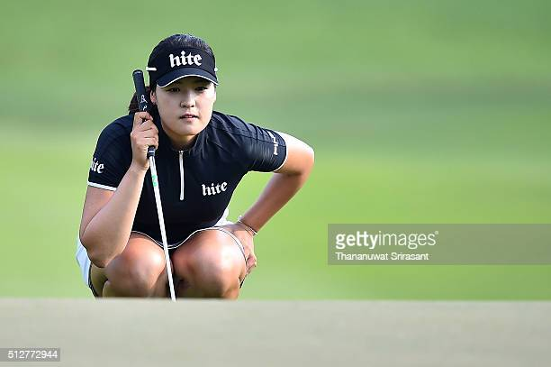 In Gee Chun of South Korea looks on during day three of the 2016 Honda LPGA Thailand at Siam Country Club on February 27 2016 in Chon Buri Thailand