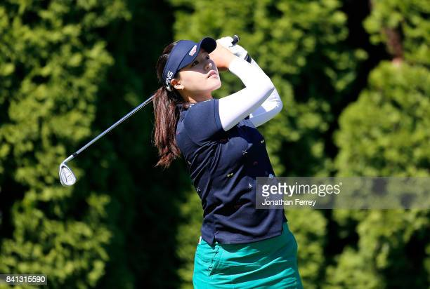 In Gee Chun of South Korea tess off on the 8th hole during the first round of the LPGA Cambia Portland Classic at Columbia Edgewater Country Club on...