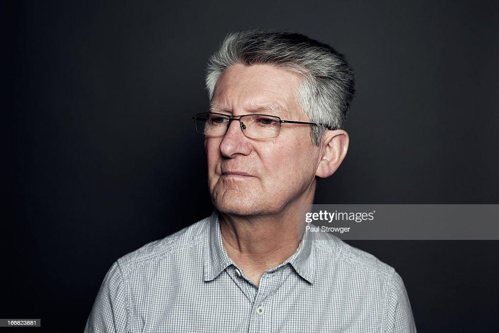 In gray shirt : Stock Photo