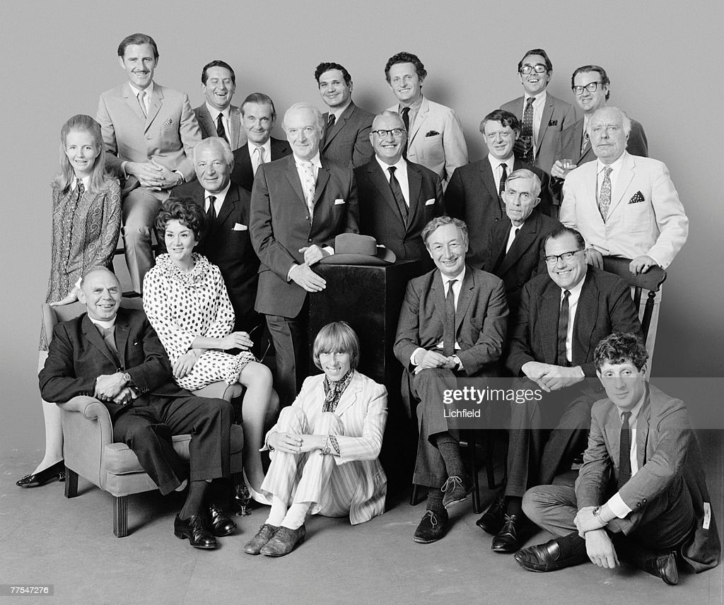 In Group commissioned by Jocelyn Stevens on 12th July 1967 Back row Lady Anne Tennant Graham Hill Mario Cassandro Eduardo Paolozzi The Marquess of...