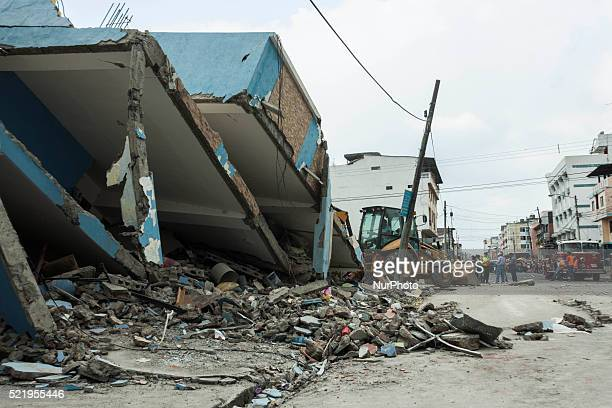 In Guayaquil cleaning jobs are performed after the magnitude 78 earthquake so far 235 dead and 1557 injured register it is anticipated that this...