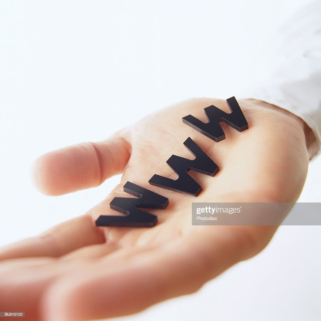 WWW in Hand : Stock Photo