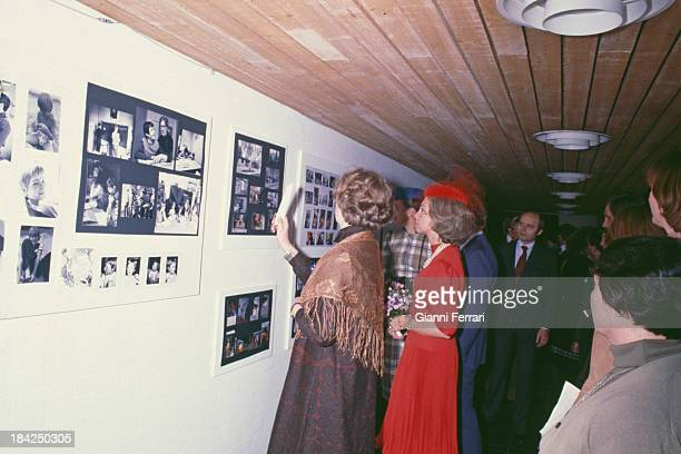 In her official visit to Denmark the Spanish Queen Sofia visit the Social Institution æSofieskolenÆ 19th March 1980 Copenhaghen Denmark