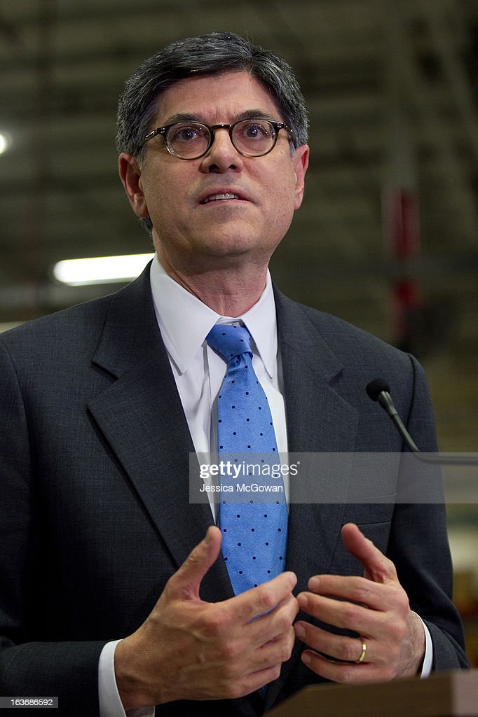 In his first trip since taking office, Treasury Secretary Jacob Lew tours a Siemens' manufacturing plant and addresses the press on March 14, 2013 in Alpharetta, Georgia. This Siemens facility manufactures drive components for major American industries. While in Atlanta, the Secretary will also meet with local business leaders to discuss the president's proposals to make America a magnet for new jobs and manufacturing, accelerate economic growth, and reduce our deficits.