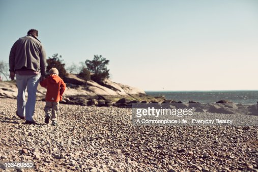 In his footsteps : Stock Photo