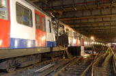 LONDON In his handout photo released by the Metropolitan Police July 9 the London Underground train damaged in a terrorist bombing rests on the...