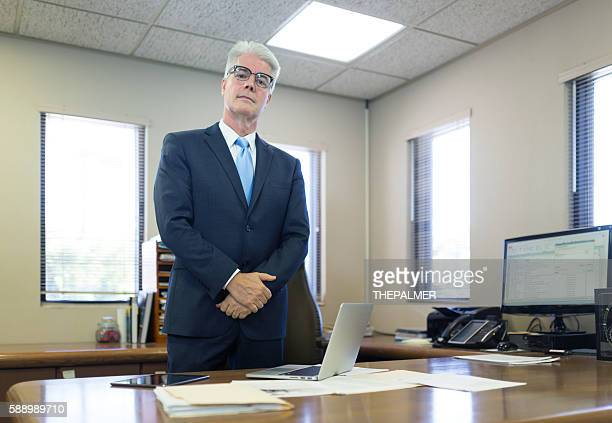CEO in his office