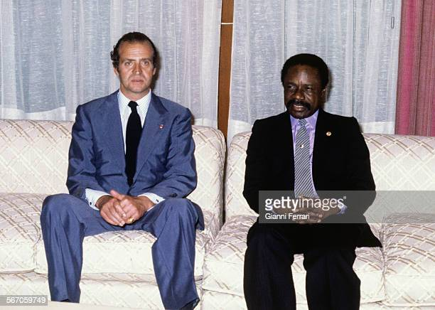 In his official visit to Gabon the Spanish King Juan Carlos of Borbon during a meeting with the Congolese President Omar Bongo Libreville Gabon