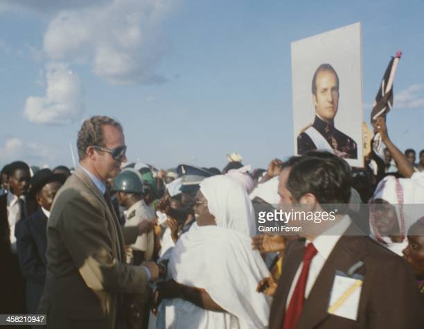 In his official visit to Ivory Coast the Spanish King Juan Carlos is greeted warmly by the people of Yamoussoukro Yamoussoukro Ivory Coast