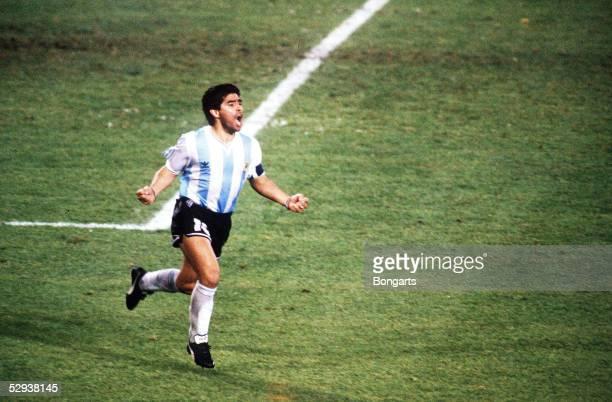 WM 1990 in Italien Neapel ARGENTINIEN ITALIEN 45 nE MARADONA/ARG