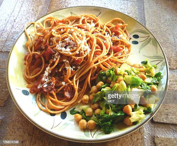 In Italy the rich spicy tomato sauce called Amatriciana is found on many restaurant menus Yet this pasta sauce is easy to make at home It's simple...