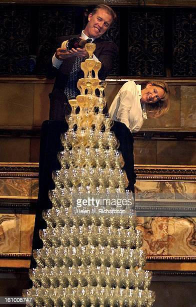 In it's annual event the Brown Palace Hotel christened the 2002 holiday season with it's 15th annual Champagne Cascade But this year it was...