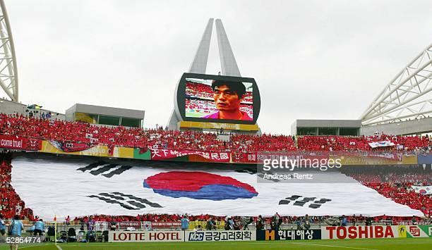 WM 2002 in JAPAN und KOREA Daegu GRUPPE D/SUEDKOREA USA 11 ANZEIGETAFEL im Stadion