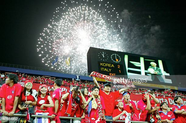 WM 2002 in JAPAN und KOREA Daejeon Match 56/ACHTELFINALE/KOREA ITALIEN 21 nV KOR FAN/FANS