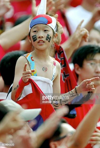 WM 2002 in JAPAN und KOREA Gwangju Match 59/VIERTELFINALE/SPANIEN KOREA 35 nE Kleiner KOR Fan