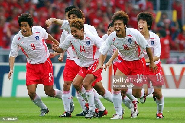 WM 2002 in JAPAN und KOREA Gwangju Match 59/VIERTELFINALE/SPANIEN KOREA 35 nE SCHLUSSJUBEL KOREA