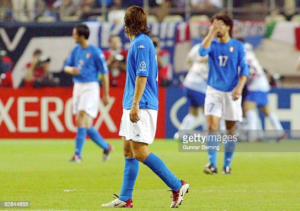 FUSSBALL WM 2002 in JAPAN und KOREA Ibaraki 080602 GRUPPE G/ITALIEN KROATIEN 12 ENTTAEUSCHUNG ITALIEN Franscesco TOTTI