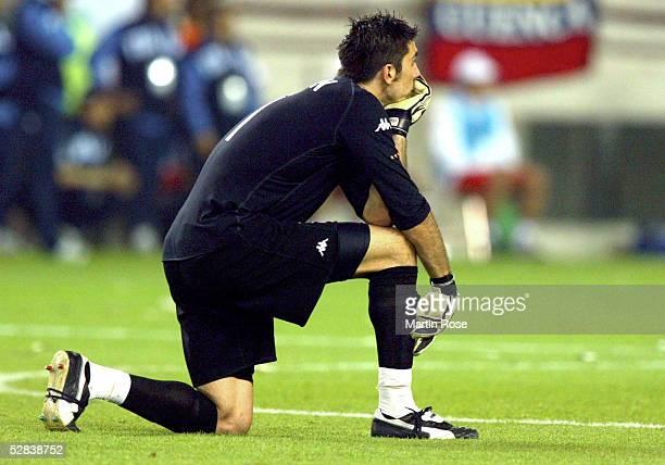 FUSSBALL WM 2002 in JAPAN und KOREA Ibaraki 080602 GRUPPE G/ITALIEN KROATIEN 12 TORWART Gianluigi BUFFON/ITA