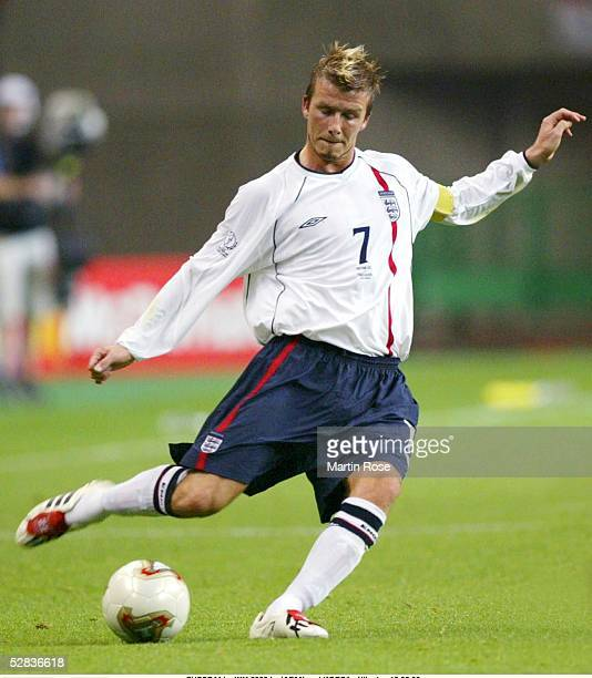 WM 2002 in JAPAN und KOREA Niigata MATCH 50/ACHTELFINALE/DAENEMARK ENGLAND 03 David BECKHAM/ENG