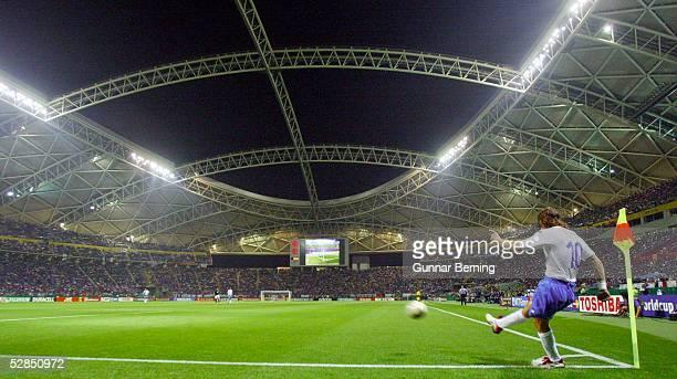 WM 2002 in JAPAN und KOREA Oita GRUPPE G/MEXIKO ITALIEN 11 ECKBALL Francesco TOTTI/ITA UEBERSICHT