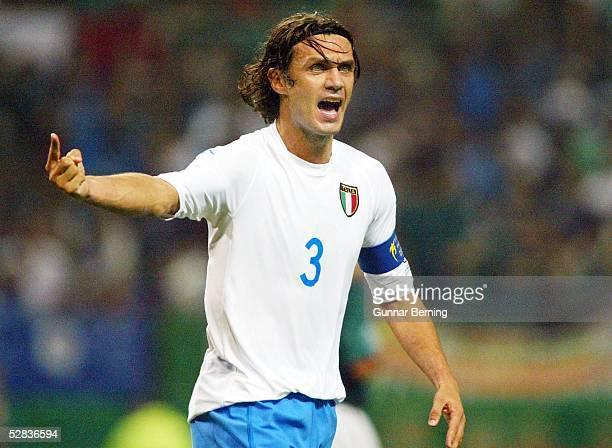 WM 2002 in JAPAN und KOREA Oita GRUPPE G/MEXIKO ITALIEN 11 Paolo MALDINI/ITA