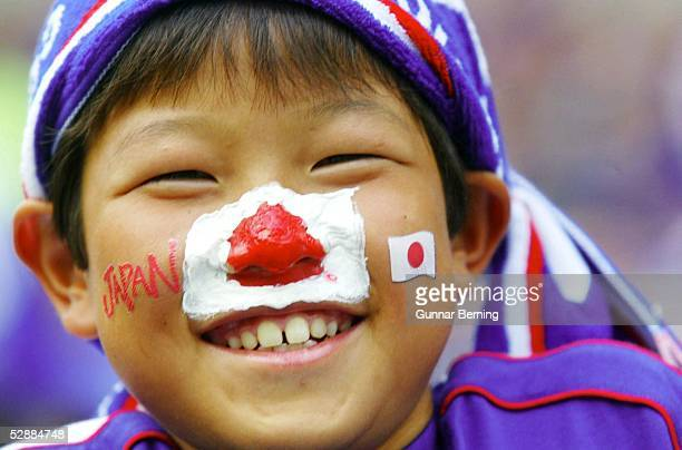 WM 2002 in JAPAN und KOREA Saitama GRUPPE H/JAPAN BELGIEN 22 FAN JAPAN