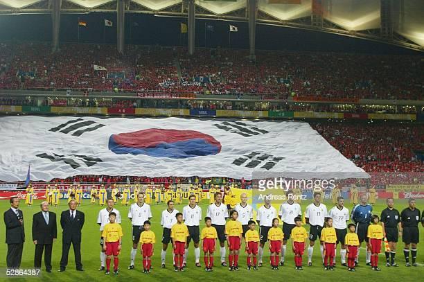 WM 2002 in JAPAN und KOREA Seoul Match 61/HALBFINALE/DEUTSCHLAND KOREA 10 TEAM/MANNSCHAFT/AUFSTELLUNG GER/Deutschland