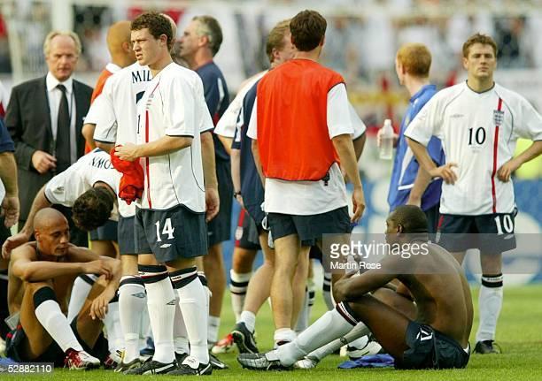 WM 2002 in JAPAN und KOREA Shizuoka Match 57/VIERTELFINALE/ENGLAND BRASILIEN 12 Enttaeuschte Englaender/ENG